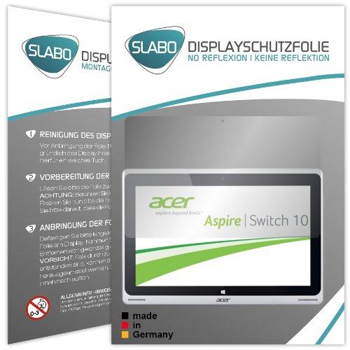 Slabo 2 x Bildschirmschutzfolie für Acer Aspire Switch 10 SW5-011 Bildschirmschutz Schutzfolie Folie No Reflexion | Keine Reflektion MATT