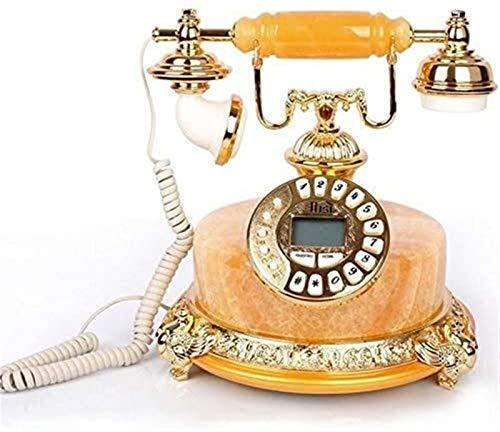 RUINAIER Comfort Volume Teléfono Fijo Teléfono Hogar Botón Fijo Dial Teléfono Jade Landline (Color : Yellow)