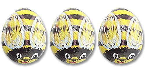 Madelaine Solid Premium Milk Chocolate Bumble Bees - Yellow Candy Party Favors (Yellow & Black) (1/2 LB)