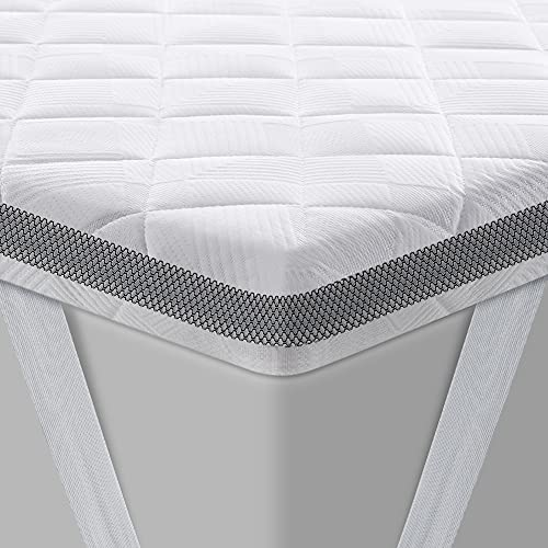 BedStory Topper 140x200 cm, Gel Topper mit Kaltschaumkern und Abnehmbarer Waschbarer Bezug, 7.5 cm Höhe Atmungsaktive und Bequeme Matratzentopper für Boxspringbett und Unbequemem Betten