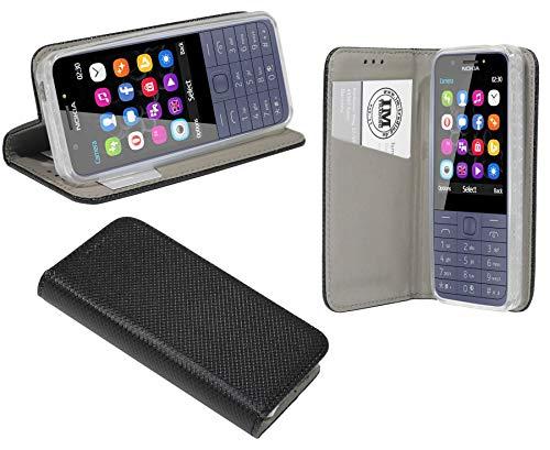 cofi1453® Buch Tasche Smart kompatibel mit Nokia 230 Handy Hülle Etui Brieftasche Schutzhülle mit Standfunktion, Kartenfach Schwarz