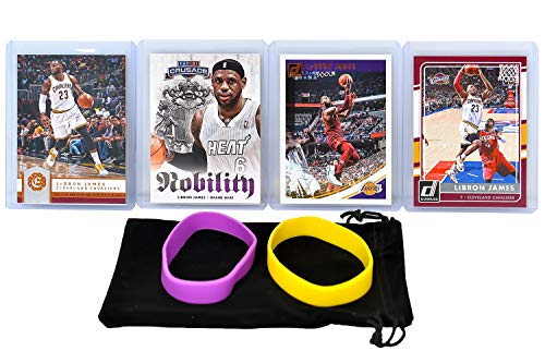 Lebron James (4) Assorted Basketball Cards Bundle - Cleveland Cavaliers Trading Cards - MVP # 23