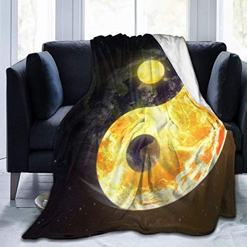 July Yin Yang Tai Chi symbool ultrazacht flanelvlies het hele jaar door lichte woonkamer/slaapkamer warme deken