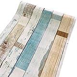 NO BRAND Papel Colorido de la Pared de Madera del Grano Peel palillo de Estante con Revestimiento de PVC Fondo de Pantalla Protectora Muebles Decorativo decoración de Paredes