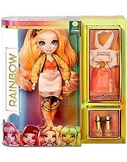 Lalka modowa Rainbow High - Poppy Rowan - Pomaranczowa lalka z wyjatkowymi strojami, akcesoriami i stojakiem na lalke - Rainbow High Seria 1 - Idealny prezent dla dziewczynek w wieku 6+