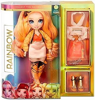 Rainbow High Poppy Rowan Orange Fashion Doll with 2 Outfits