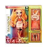 Rainbow High Muñeca de Moda - Poppy Rowan Muñeca en Naranja con Conjuntos Elegantes, Accesorios y Soporte para Muñeca, Rainbow High Serie 1, Regalo Óptimo para Niñas a Partir de 6 Años