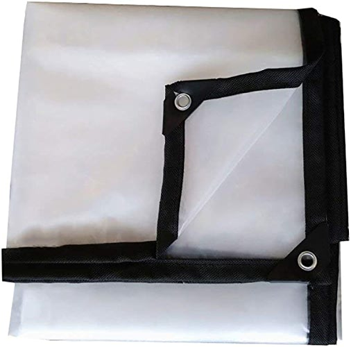 ZKKWLL Bache Bache épaisse imperméable, Film Plastique Transparent Blanc, bache isolée à Effet de Serre 120g   m2 Bache Transparente (Taille   4x4m)
