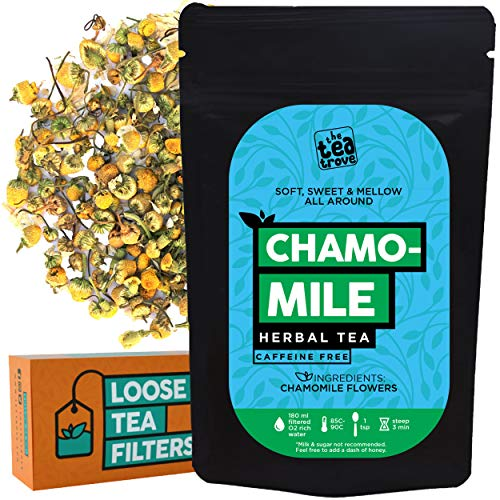 The Tea Trove -Organic Chamomile Flowers Herbal Tea with...