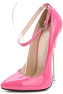Women's Pointed High Heels, Large Size Heel High 16CM Closed-Toe Fine Heel Shoes Non-Slip Sexy Suitable for Banquet Wear