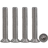 10 piezas M6x45 Tornillos para metales Torx Tornillos madera inoxidable Tornillo Mecánico de Cabeza Avellanada Accionamiento estándar Rosca Completa,para equipos de maquinaria y muebles para el hogar