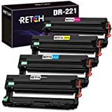 RETCH Compatible Drum Unit Set Replacement for Brother DR221 DR221CL DR-221CL for Brother HL-3180CDW HL-3140CW HL-3170CDW MFC-9130CW MFC-9330CDW MFC-9340CDW (1 Black 1 Cyan 1 Yellow 1 Magenta)