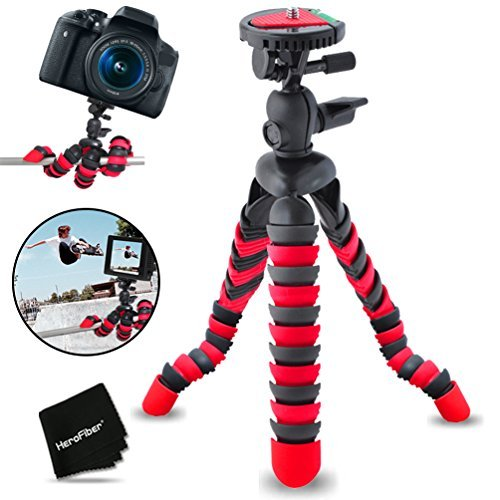 """12"""" Inch Flexible Tripod with Quick Release Plate for Nikon Coolpix S9900, S7000, S6900, S3700, S2900, C810, S33, S32, S9700, S9500, S9300, S9100, S8200, S8100, S8000 S3600, S3500, S3300, S3200, S3100, S3000, S4300, S4200, S4100, S4000, AW120, AW110, AW100, P4, P3, S80, S60, S220 Digital Cameras [並行輸入品]"""