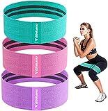 Haquno Bandas Elasticas Gluteos[Set de 3], Elásticas Musculacion para Fitness con 3 Niveles, Resistencia Antideslizante para Piernas Glúteos, Pilates,Yoga,Fuerza,Fisioterapia,Estiramientos