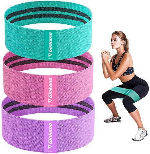 Haquno Fitnessbänder, [3er Set] Widerstandsbänder Set Loop-Band für Hüften und Gesäß, 3 Widerstandsstufen für Hintern, Beine und Ganzkörpertraining, Resistance Hip Bands