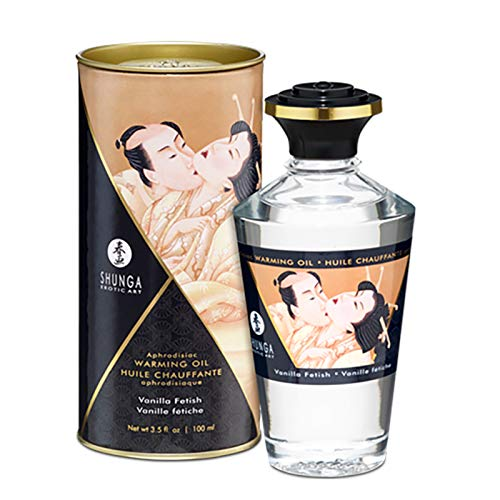 Shunga liebesöl - Massage Öl Geschmack Vanille Aroma Essbar 100ml wärmendes Öl Vorspiel Erotik Intim Tantra Sex Thai