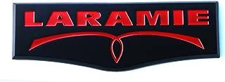 1pc OEM Laramie Tailgate Emblem Badge 3D Laramie Nameplate for Ram 1500 2500 3500 Black Red