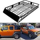 x cargo roof rack - 7BLACKSMITHS Black Roof Rack Cargo Basket Carrier Rack with 64