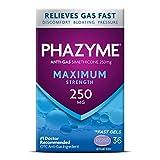 Phazyme Maximum Strength Gas & Bloating Relief, 250mg Simethicone, 36 Quick Gels