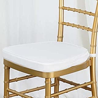 Efavormart 10PCS Ivory Chiavari Chair Cushion for Wood Resin Chiavari Chairs Party Event Decoration - 2