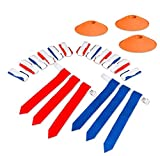 Play Platoon 14 Player Flag Football Deluxe Set - 14 Belts, 42 Flags, 12 Cones & 1 Mesh Carrying Bag for Flag Football