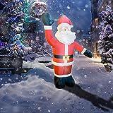 wolketon Santa Claus Hinchable 240cm Decoración Papa Noel Inflable Luces LED Incorporadas Navidad para Césped Familia Decoración