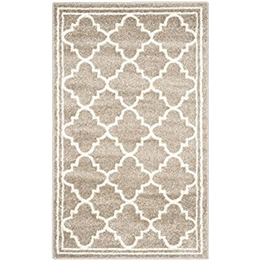Safavieh Amherst Collection AMT422S Wheat and Beige Indoor/ Outdoor Area Rug (2'6  x 4')