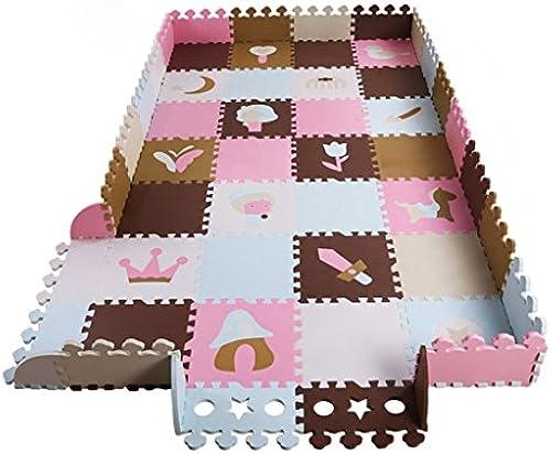 Der Kinderzaun-kriechende Schaum-Auflage, n nde kriechende Matte, Hauptwohnzimmer-starke Schaum-Auflage 30  30  1.3cm (Farbe   lila)