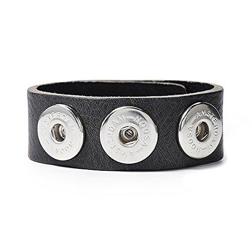 Noosa Armband classic skinny antique black ohne Chunks, Größe:S