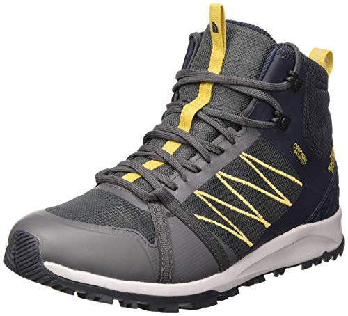 The North Face Mens Litewave Fastpack II Mid WP, Zapato para Caminar para Hombre, Dark Shadow, 46 EU