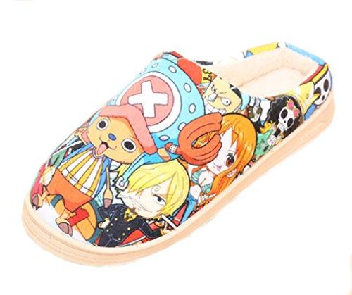 Bromeo One Piece Anime Super Suave Zapatillas de Estar por casa Felpa Zapatos