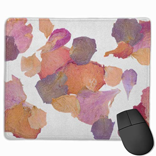 Sdwosibao Cute Gaming Mouse Pad,Desk Mousepad,Small Mouse Pads for Laptop Computers,Mouse Mat Colorful Dry Dried Flower Petals Pink Pressed Potpourri Rose Bloom