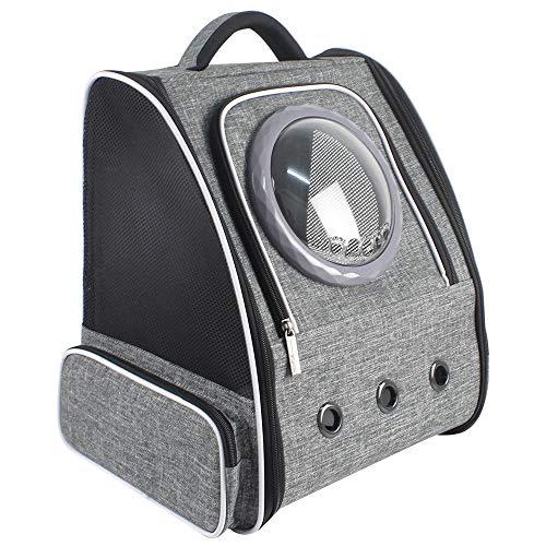 Hunderucksack Katzenrucksack Haustiere Rucksack Transporttasche Faltbarer für Katzen Hunde, Maschenseiten Top Öffnung Großer Atmungsaktiver Haustiertasche mit Sicherheitsleine für Draussen Reisen