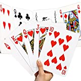 Chivao 2 Decks Jumbo Giant Poker Playing Cards Fun Full Poker Game Set Jumbo Playing Cards for Casino Theme Game Night and Family Game Party Supplies, Stocking Stuffers (8 x 11 Inches)