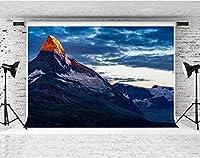 HD自然の風景の背景高山の雪雲写真の背景壁の写真の背景7X5フィートFSP008