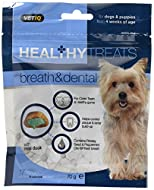VetIQ Healthy Treats Breath & Dental for dogs and Puppies 70g (Pack of 6)