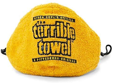 Steelers Wholesale Myron Cope's Terrible Towel - Face Mask Covering with Adjustable Straps