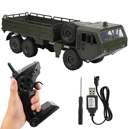 FEBT Auto RC Rc Camion Militare Fuoristrada Auto da Camion Militare RC da 2,4 GHz Sei Ruote motrici 1:16 Auto telecomandata Giocattolo per Veicoli RC per Ragazzi, Adulti e Bambini