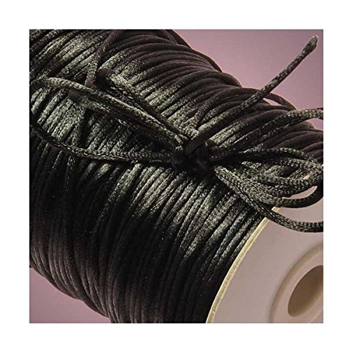 Black Rat Tail Cord, 3mm X 100Yd