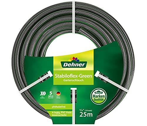 Dehner Gartenschlauch Stabiloflex, Ø 19 mm, Länge 25 m, 3/4 Zoll, Kunststoff, grün