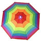 Weiyiroty Cappello da Ombrello Giocattolo per Bambini del Fumetto, Accessori da Pesca Cappelli da Spiaggia a Strisce Carini, Giorni di Pioggia per la Pesca di Bambini Adulti