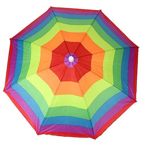 Regenschirm Hut Polyester Cartoon Niedlich Bunte Streifen Regenschirm Hut Kinder Spielzeug Angeln Zubehör 76cm Durchmesser