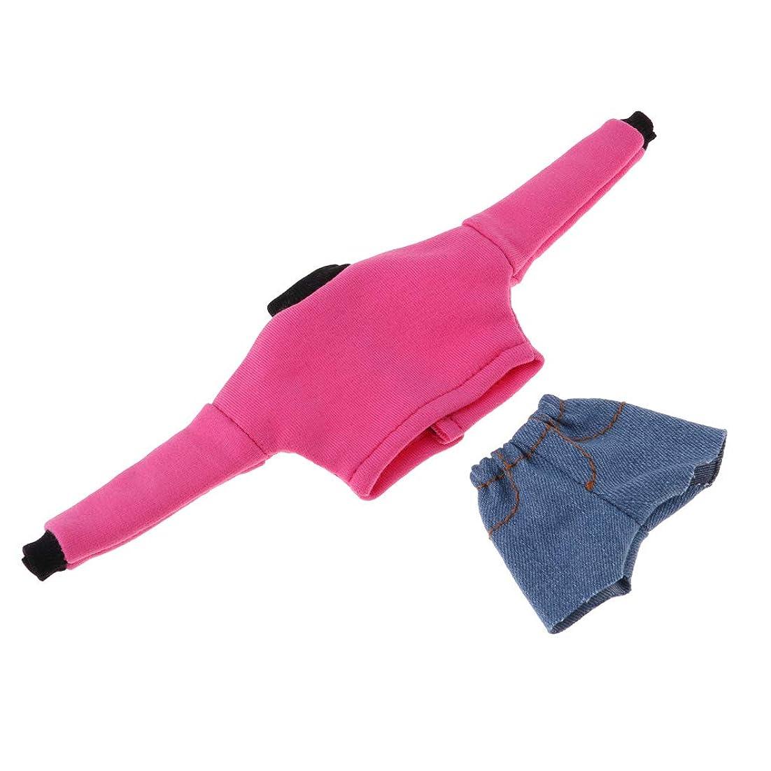 振る舞い割り当てますフォルダSM SunniMix 人形服 ドール服 プルオーバー ショーツ 12インチガールドールに適用 全5色 - ピンク