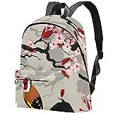 Stieglitz blühender Kirschzweig Bag Teens Student Bookbag Leichte Umhängetaschen Reiserucksack Tägliche Rucksäcke