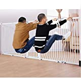 Barrera de Seguridad de Niños para Puertas y Escal Barandilla Puerta del jardín Escaleras Cerca de presión Fit Seguridad Puerta de metal Soportes de 78cm de altura El ancho se puede seleccionar de 75