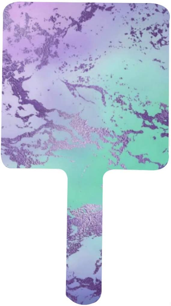 Marble Chic Decor Trendy Special price Purple and Blue M Ombre Portable Handle Branded goods
