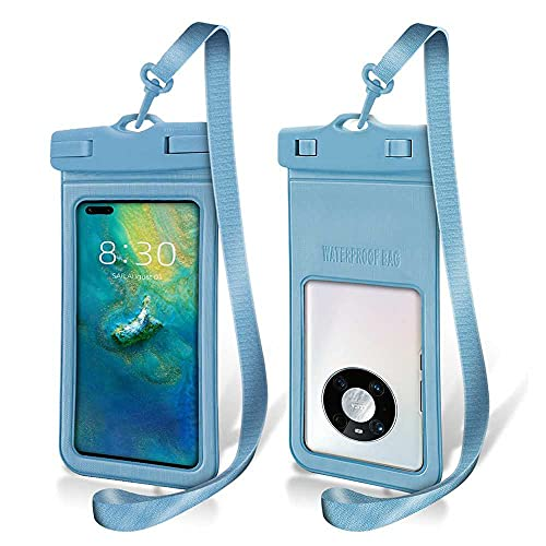 N\C 2 piezas de Ipx8 impermeable teléfono móvil caso subacuático bolsa de teléfono móvil para Iphone 12 11 Pro Max Xr Xs X 8 7 Se Samsung S20 S106.5 pulgadas