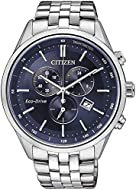 Citizen Mens Chronograph Eco-Drive Watch with Stainless Steel Strap AT2141-52L