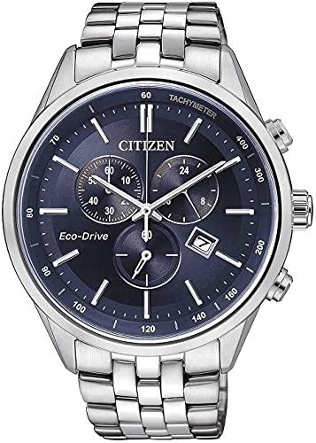 Relógio de mergulho masculino Citizen AT2141-52L prata aço inoxidável Eco-Drive