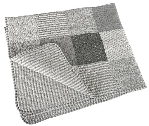 Stephan Baby Heirloom-Quality Pieced Crib Quilt, Gray and...